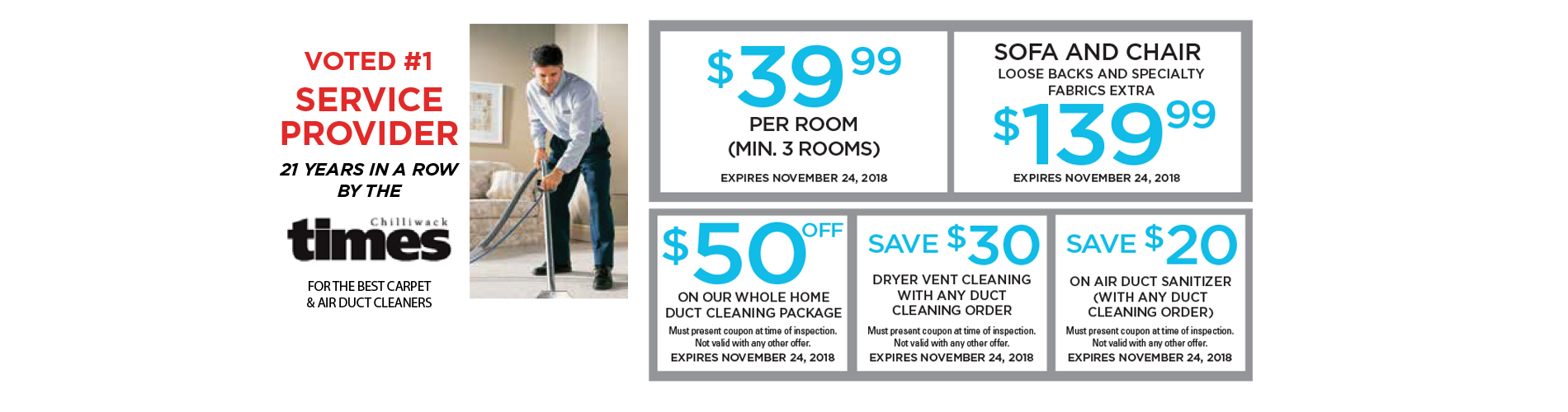 New Look Home Cleaning Services specials October November