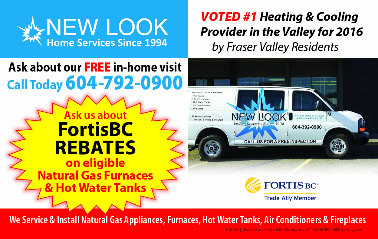 Fortis BC rebates with New Look Home Services