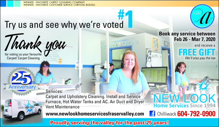 Voted Number 1 Carpet Cleaning and Customer Service. Progress News Chilliwack BC